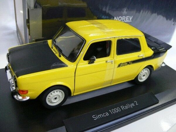 Simca 1000 Rallye II de 1974 rouge sumatra Echelle 1//87 NOREV Ho
