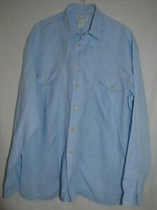 Bugatta-Italia-inteligente-Clasico-Relaxed-Fit-Camisa-De-Lino-Azul-UK-16-034-EU-41-L