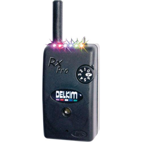 Delkim NEW RX Plus Pro6 LED Delkim Carpfishing Bite Alarm Mini Receiver-Free P+P