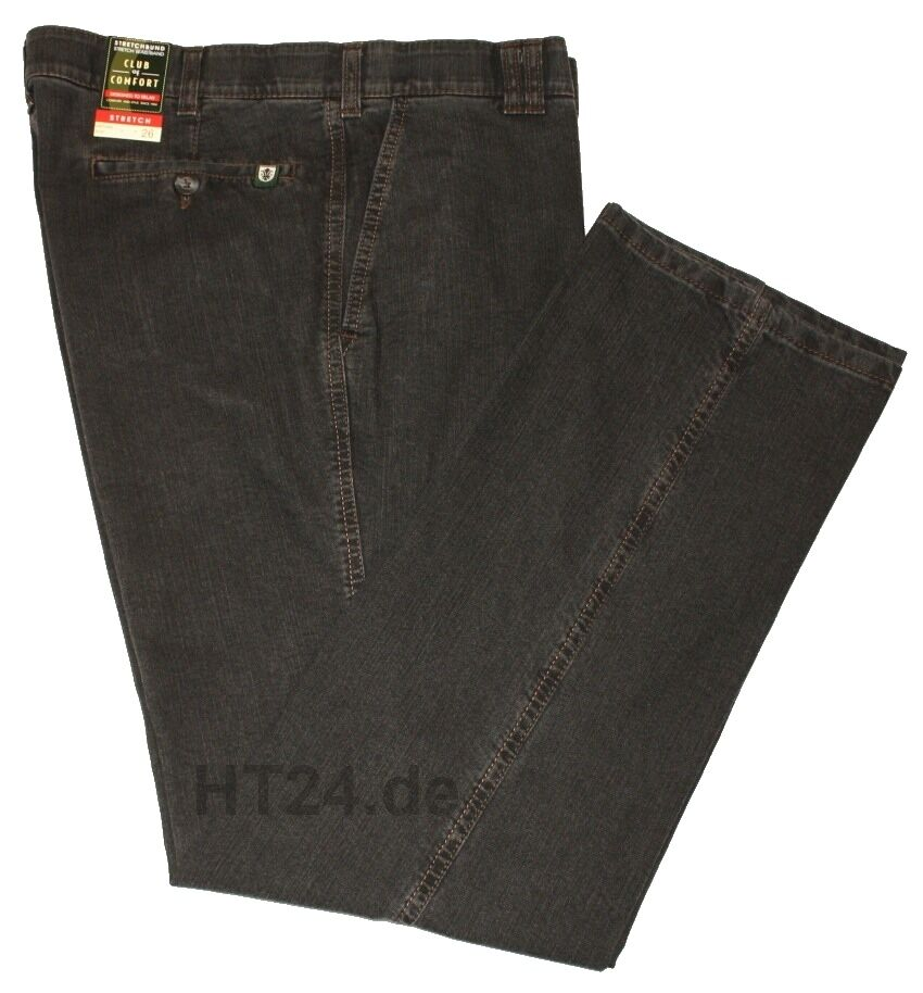 Club of Comfort Jeans Dallas ANTRACITE mis. 48 a 60 Stretch (4631)