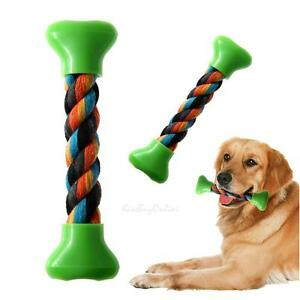 Plastic-Cotton-Rope-Braided-Bone-Chew-Knot-Toy-Pet-Dog-Puppy-Cat-Training-Dental