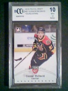 CONNOR-McDAVID-14-15-ERIE-OTTERS-YOUNG-STARS-GRADED-PRE-ROOKIE-CARD-MINT-10