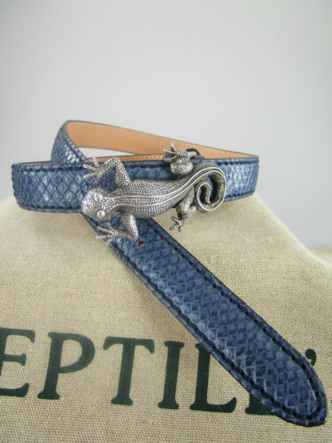 Original reptile/'s House ceinture phython nouveau bleu mat étroit environ 2,5 rhsp 06