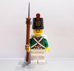 Lego-PIRATES-Imperial-Guard-Armada-BLUECOAT-Soldier-MINIFIG-Green-VERSION