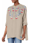 Johnny-Was-Gray-Tunic-Top-L-Floral-Embroidery-Bohemian-Chick-Casual-blouse-NWT thumbnail 1