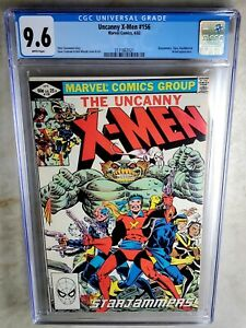 Uncanny-X-Men-156-Starjammers-Marvel-1982-CGC-9-6-NM-White-Pages-Comic-I0144
