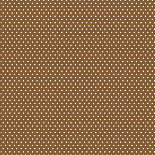 Core/'dinations Core Basics 12x12 Printed Paper Brown With Small White Dots
