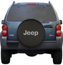 "Black Jeep Logo Spare Tire Cover Wheel R16 30"" Accessory New Free Shipping USA"