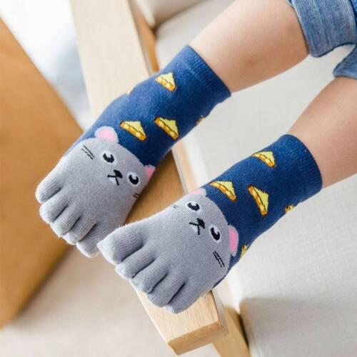 Children Cotton Animal Boys Girls Socks Toe Socks for Kids Five Finger Sock