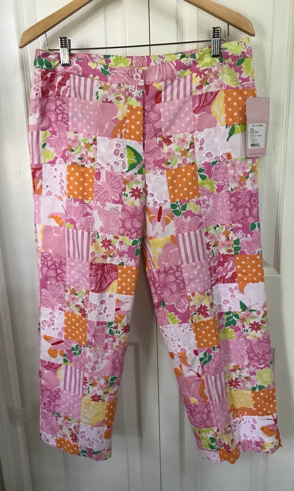 NWT Lilly Pulitzer RARE Vintage Lilly Capri In 2 Minute Sewn Patch SZ 8