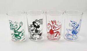 Antique LOT 1930's Walt Disney Goof Donald Duck Minnie Mouse Horsecollar Glasses