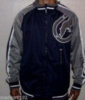 Ecko Unltd Track Jacket Navy Blue With Gray Large With Tag