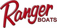 "Ranger Boats Logo 14x28"" / RED / watercraft / vehicle / trailer decal / fishing"