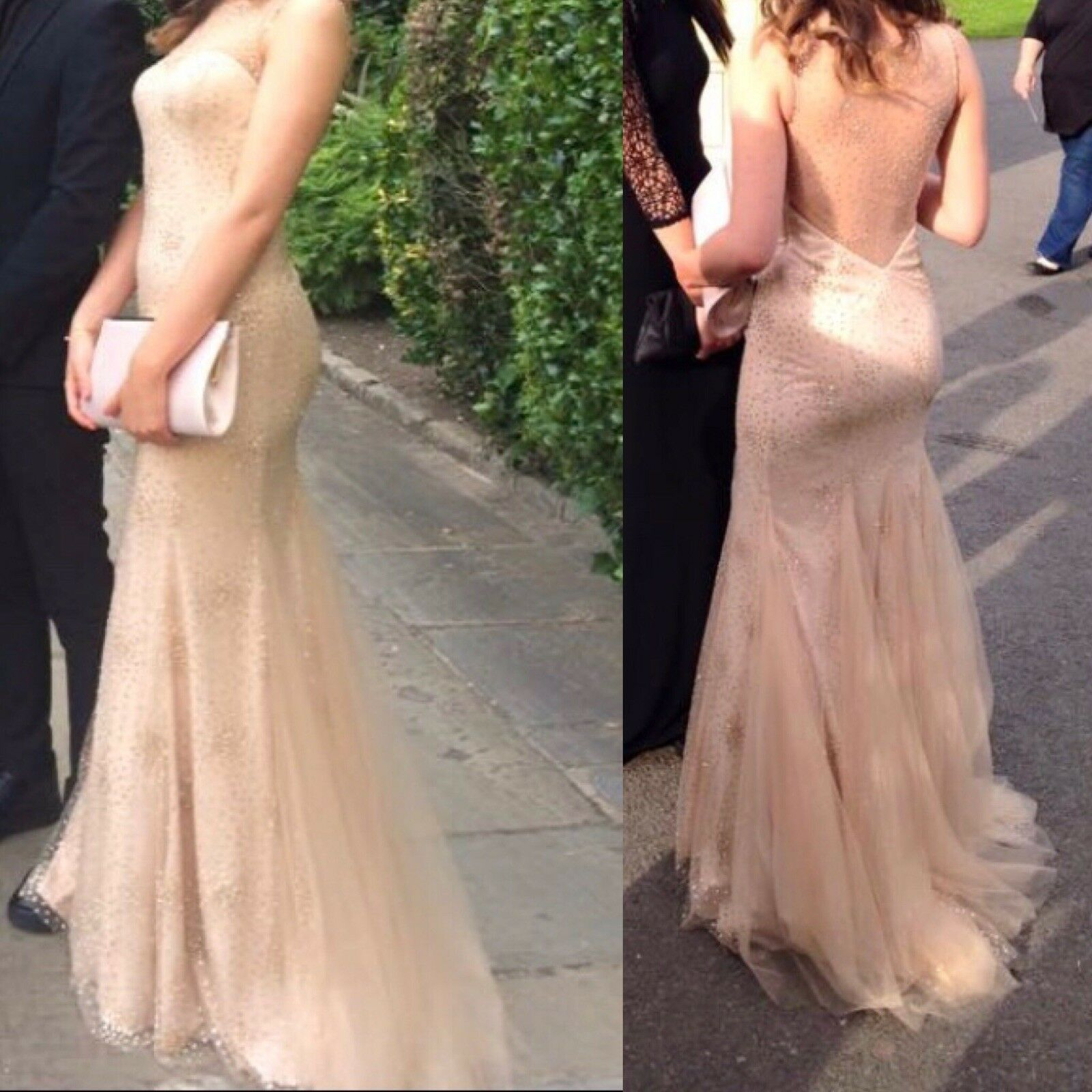 bd85b72d5e37 Clarisse pink gold Sequin Mermaid Dress UK Size 8 Prom Style  nxaqqx25335-Dresses