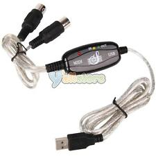 PC USB to MIDI keyboard Interface Converter Cable Cord