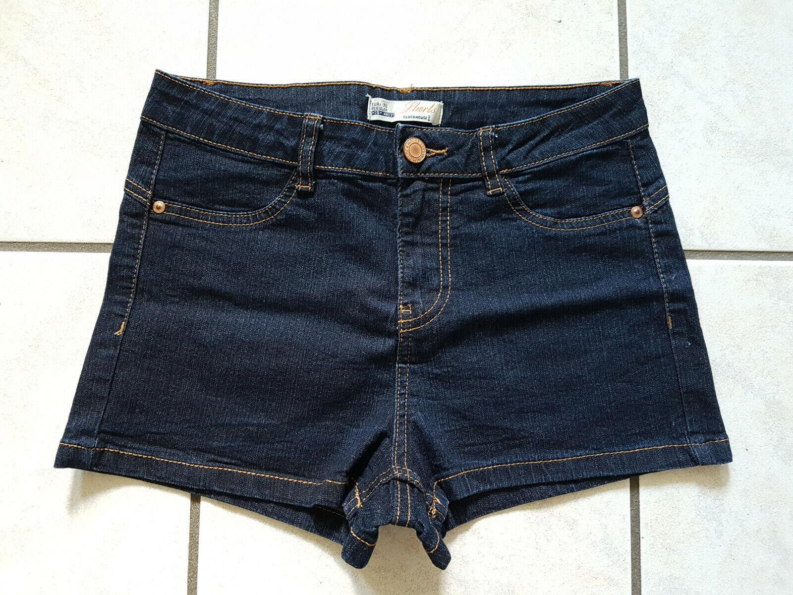 Clockhouse High Waist Shorts Größe 36 Dark Denim Dunkelblau Jeans Hot Pants