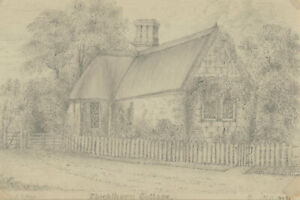 G-C-Harry-Mid-19th-Century-Graphite-Drawing-Thickthorne-Cottage