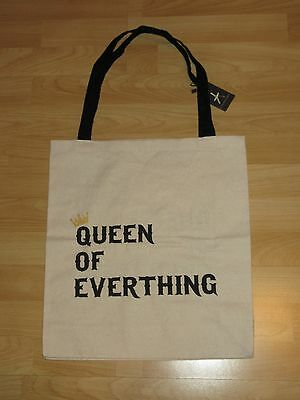 Jute Beutel Shopping Queen of everthing Baumwolltasche Stofftasche Tasche