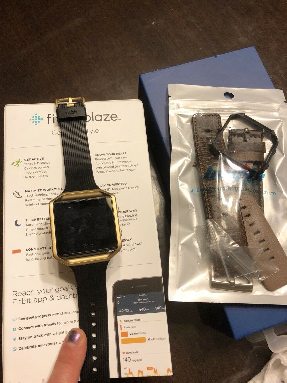 Fitbit Blaze Smart Fitness Watch Small Size + Extra Band.