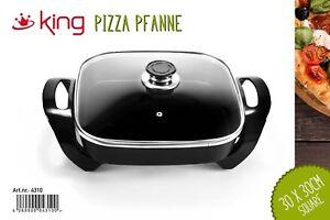 Elektrische-Partypfanne-Pizzapfanne-Paellapfanne-Multipfanne-Gusseisen-Schwarz