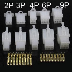 2.8mm 2/3/4/6/9 Way Pin Mini Connector Plug And Socket Kits Motorcycle Car Auto
