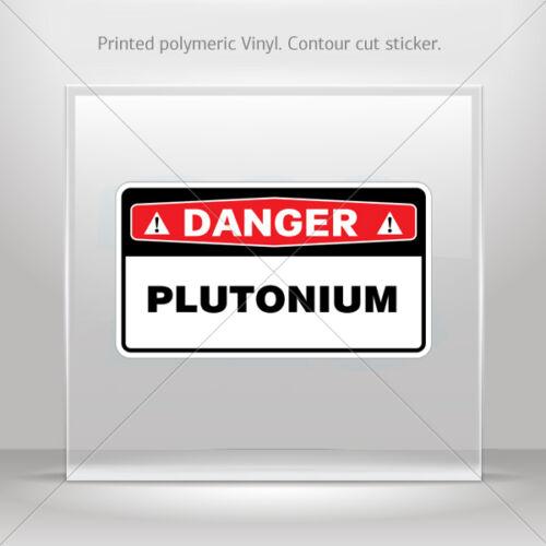 Decals Sticker Plutonium Helmet Motorbike Boat Door vinyl Garage st5 X83X7