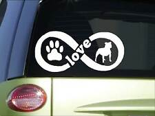 Staffordshire Bull Terrier Infinity sticker *H425* 4 x 8.5 inch Staffy Bull