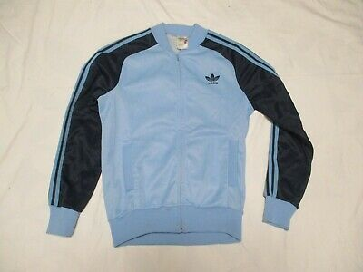 Veste ADIDAS SUPERSTAR vintage bleu jacket giacca ventex