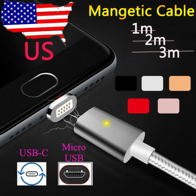 1M/2M/3M High Sd Magnetic Micro USB/USB-C Quick Charger Cable Data on