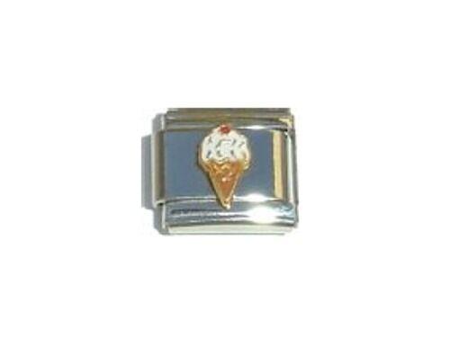 9mm Classic Size Italian Charms   E9 White Vanilla   Ice Cream