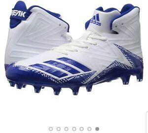 huge selection of 8471c ebdce Details about Adidas Men's Freak X Carbon Football Cleats White/Royal Blue  -Size 15