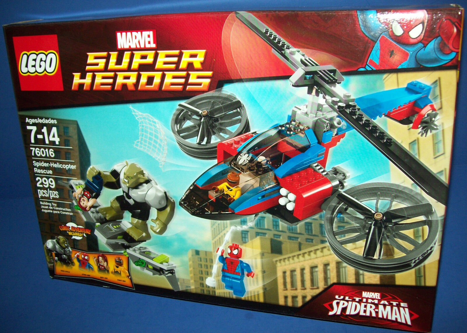 LEGO 76016 Spider-Helicopter Rescue Factory Sealed RETIRED Marvel Super Heroes