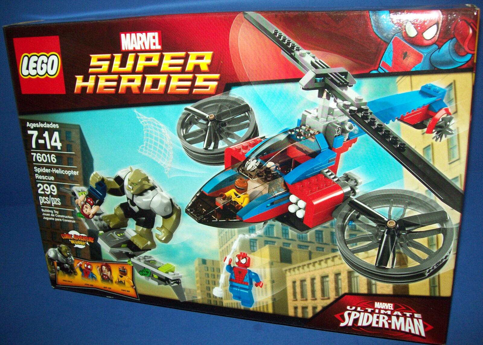 LEGO 76016 Spider-Helicopter Rescue Factory Sealed RETIROT Marvel Super Heroes