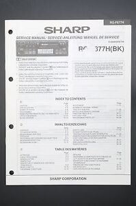details about sharp rg-f877h original service manual/service manual/wiring  diagram! o41