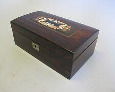 Fine 19th C. Rosewood Box w/ Pietra Dura Plaque  c. 1890            antique