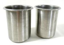 Lot Of 2 Vollrath Stainless Steel Nsf 78710 125 Qt Bain Marie Utensil Pot