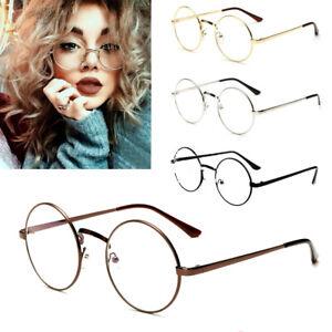 Fashion-Men-Women-Vintage-Retro-Round-Frame-Clear-Lens-Eyeglasses-Unisex-Glasses