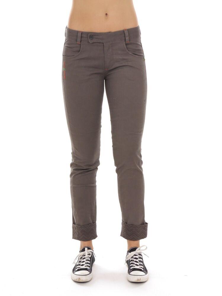 Primemotion Pantalon Chino Pantalon De Loisir Braun Extensible Poches à La Mode
