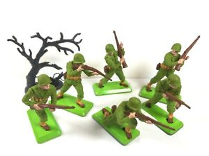 Britains Deetail-Segunda Guerra Mundial US americano Infantería Set Completo Excelente ** envío mundial ** 1