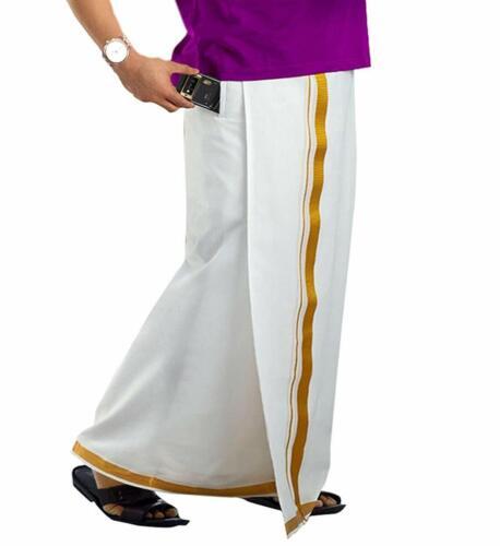prakasam cotton Men/'s Cotton Velcro Pocket Dhoti size 32 free shipping  UK