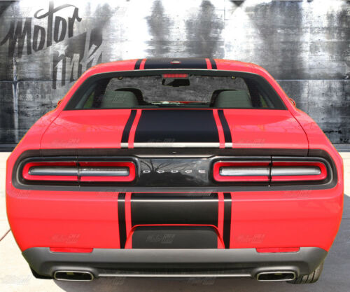 2015 2016 2017 Dodge Challenger Rally T hood Racing Stripes Over the Top Decals