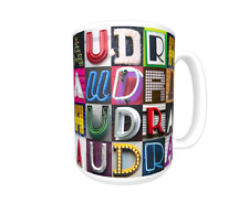 AUDRA Coffee Mug / Cup featuring the name in photos of sign letters