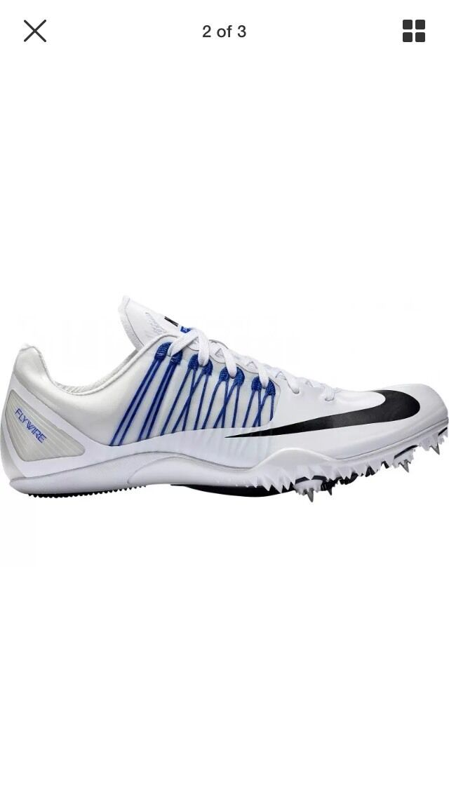 Nike Celar 5 Track & Field Spikes  White/Black/Blue 629226-100 Men Sz 12 NNB The latest discount shoes for men and women