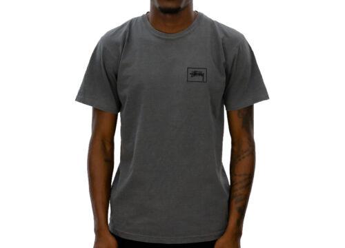 Stussy STOCK FRAME PIGMENT DYED TEE Black Faded Aesthetic S//S D Men/'s Shirt