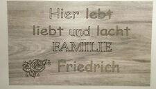Türschild Dekoschild Landhaus Vintage Shabby Retro Style Familie Name Eingang