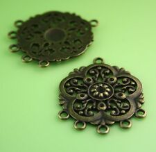 Antique Bronze Pendant or Earring Connector  - pack of 6