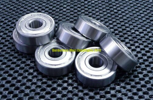 7x19x6mm 5 Pcs Metal Double Shielded Ball Bearing Bearings 7*19*6 607ZZ