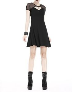 254676e50a40 Dark in Love Fishnet Sleeve Star Short Black Dress Nu Goth ...