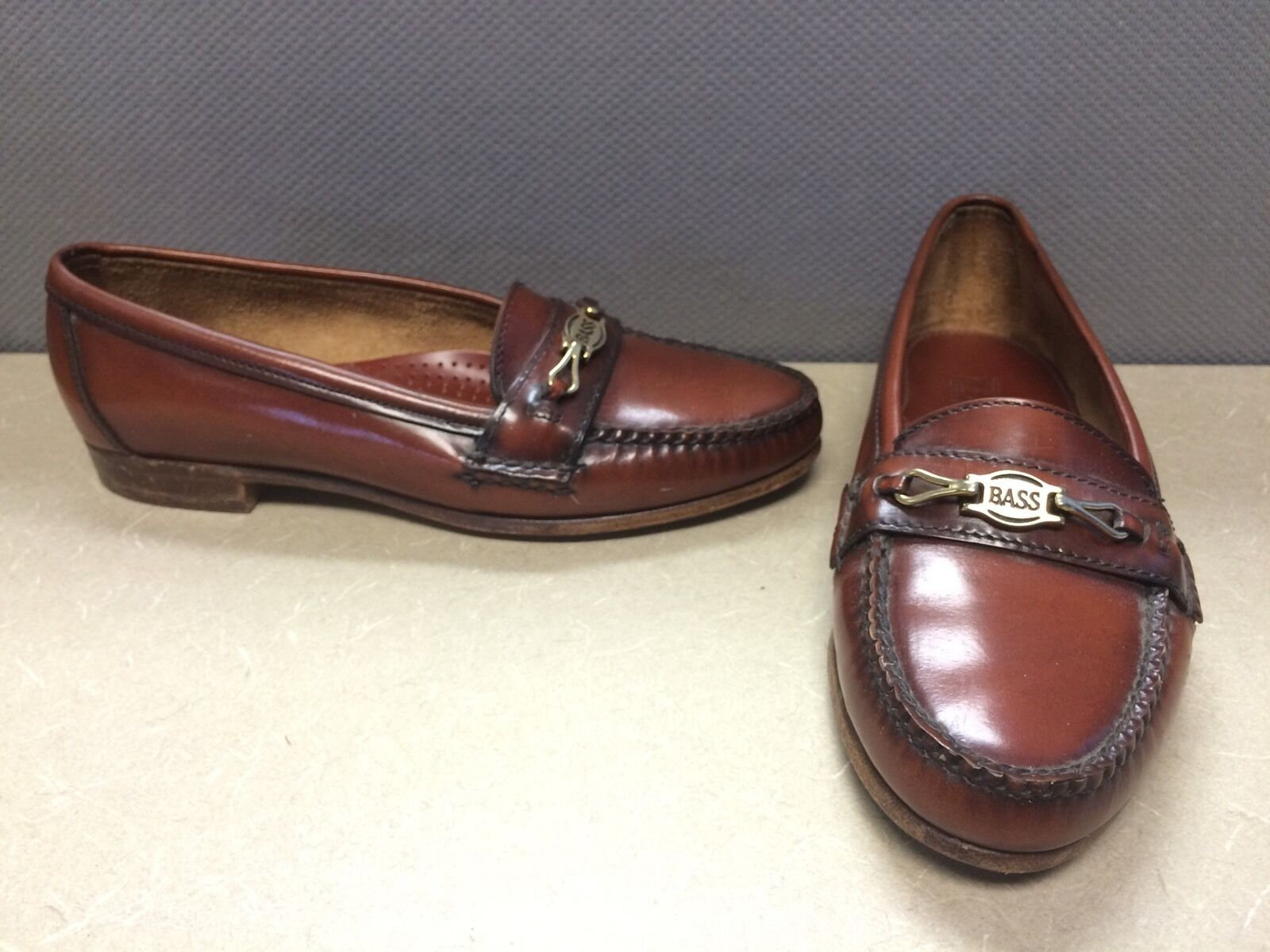 Vintage Bass Moc Toe Marronee Loafers donna Dimensione 6.5M