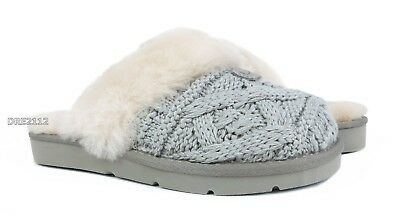 ee5254db24b UGG Cozy Cable Seal Fur Knit Slippers Womens Size 11  NIB